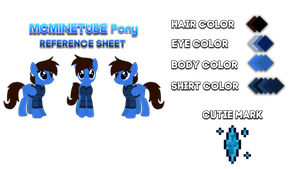MCMineTube Pony Reference Sheet (Updated) by MCMineTubeMLP