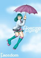 Floating On An Umbrella by madelief