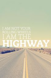 I Am The Highway iPhone Wallpaper v2 by mininudoidu