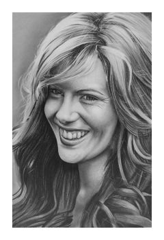Kate Beckinsale Drawing by golfiscool