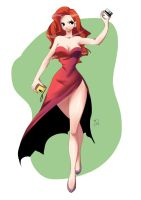My new version of Jessica Rabbit by TheJefersonChan