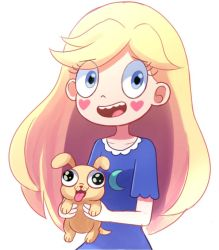 Star Butterfly and laser puppy by PixiTales