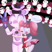 Hug me in the middle of the show :Baby x F.Freddy: by Magicskies