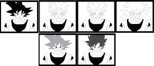GOKU SHOWING THE PHYSICAL DIFFERENCES by brandonking2013