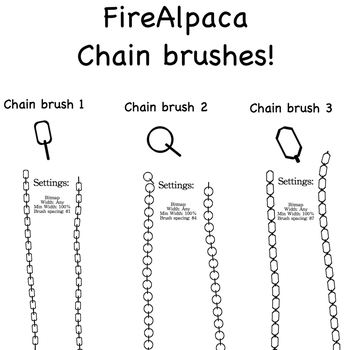 FireAlpaca Chain Brushes - Free! by Mo-fox