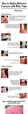 How to Make Mitered Corners with Bias Tape by r-lowen