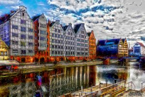 In the footsteps of old Gdansk townhouses 27 by wiwaldi24