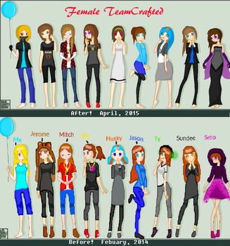 Before and After: Female TeamCrafted by DemonMiner