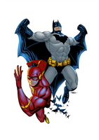 The Flash e Batman by adagadegelo