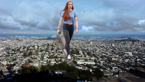 Sophie Turner walks across San Francisco by Natkatsz