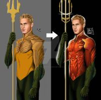 Justin Hartley as Aquaman Second Version by daniel-morpheus