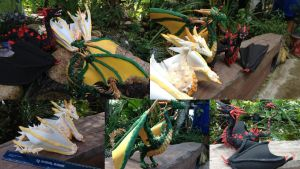Game of Thrones Dragon statues by SonsationalCreations