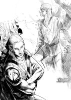 Zevran Sketches by P-JoArt