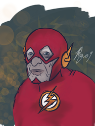 The Fastest Man alive - The Flash by Polygonine