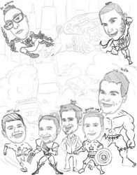 caricature draft b 071715 by raccoon-eyes