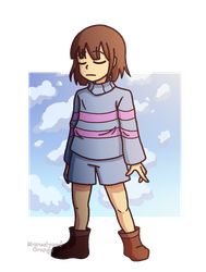 frisk the hooman by Stereotyped-Orange