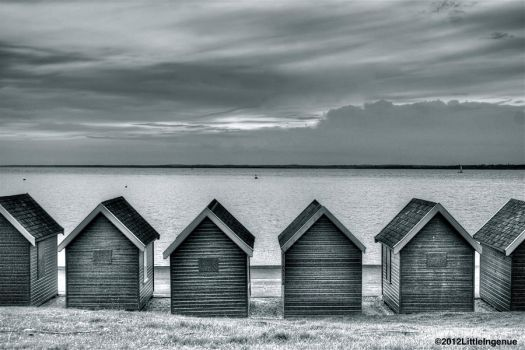 Beach Huts at the Bay by LittleIngenue