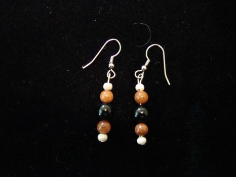 Goldstone Earrings by NightShrike