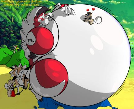 Midnigth Lycanroc Balloon by inflatedtoon