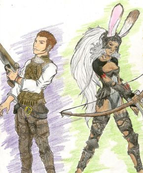 Fran+Balthier Ready to Fight by killer-rabbit-05