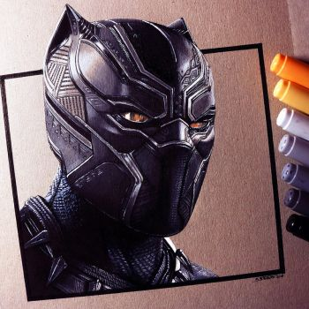 Black Panther Drawing by LethalChris