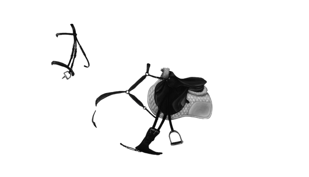 FREE Eventer HIGH DETAILED Greyscale Tack by LuDa-Stock