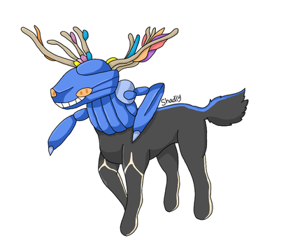 Genesect and Xerneas by Artistimistic
