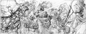 MARVEL HEROES LITHO PENCILS by simonebianchi