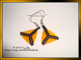earrings triangles orange by Zoey-01