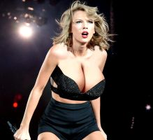 Taylor Swift with Bigger Breasts 5 by DarkonParker