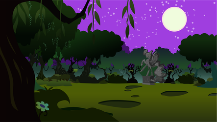 Nightmare Night in the Everfree Forest by Hellswolfeh