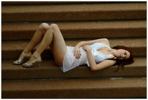 Kathryn on steps 2 by wildplaces