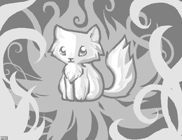 Silvery Cat by PineappleSodaCat