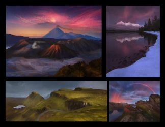 Landscape Thumbnail Studies 4 Day #130 by AngelGanev
