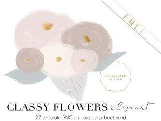 FREE - Classy Flowers clipart by iCatchUrDream