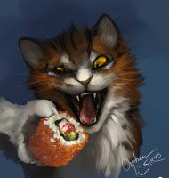 sushi and Merfee by Orphen-Sirius