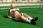 Musclebound Soccer Girl by plinius