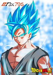 Vegito Dragon ball super ssg blue by AL3X796