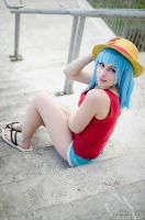 Bulma,Dragonball Z x One Piece by Mellorineeee