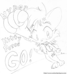 Hyper Kitty Force GO by RealmOfQuickPaw