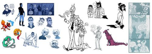 January 2012 Sketches and Inks by Grim-Amentia