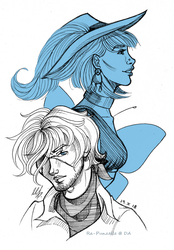 [Inktbr] Day 14: Diego and Drina by Ra-Punzelle