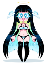 Neon angel AUCTION (CLOSED) by Maladoodles