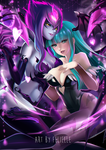Come with us... Evelynn x Morrigan by Felielle