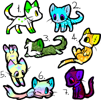 Random Cat Adoptables (CLOSED) by ThatCreativeCat