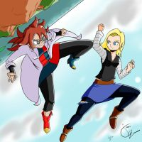 Android 18 vs Android 21 by jkalsop
