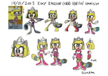 Roxy Raccoon (from AoSTH) Redesign (COMMISSION) by TheKKM