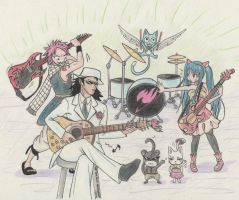 The Fairy Tail's Dragon Slayers concert! by DeeTeaGirl