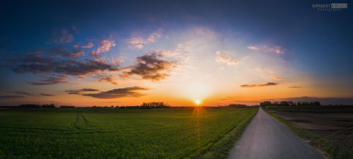 Spring sunset is not very spring weather by NorbertKocsis