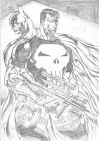PUNISHER AND THE BATMAN by vanchoran